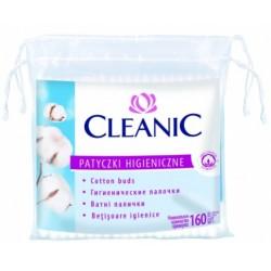Kosmetiniai vatos krapštukai CLEANIC 160 vnt.