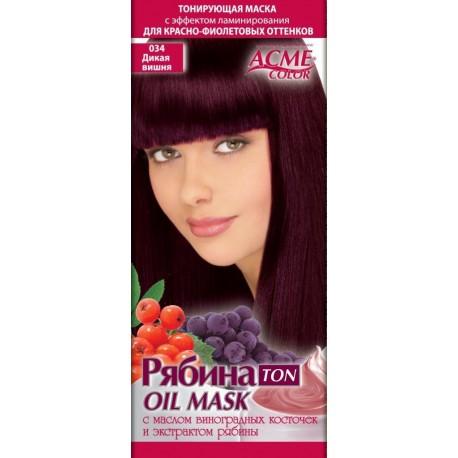 Plaukų tonavimo kaukė Acme Color Rebina Ton Oil Mask,  034 Laukinė vyšnia