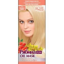 """Plaukų tonavimo kaukė Acme Color Rebina Ton Oil Mask"""", 111 Šlapias smėlis"""