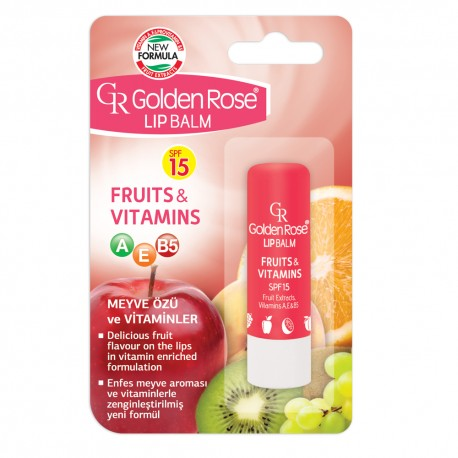 "Lūpų balzamas GR ""Fruits & Vitamins SPF 15"""