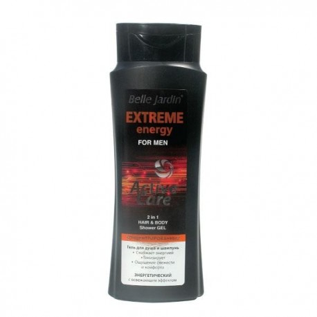 """Koncentruota dušo želė ir plaukų šampūnas vyrams BJ """"Extreme Energy"""""""
