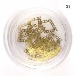 Aukso spalvos metaliniai nagų papuošalai RN