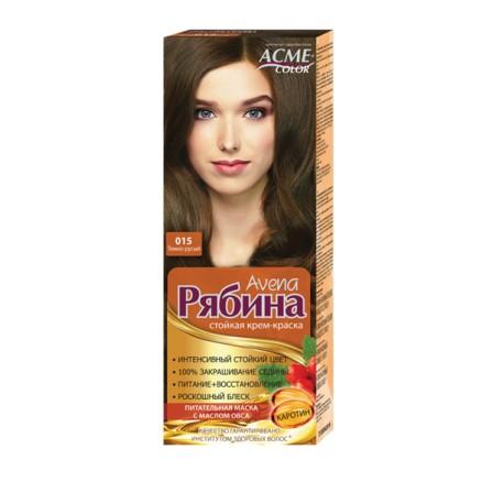 Dažomasis plaukų kremas Acme Color Rebina 015, Tamsiai rusva