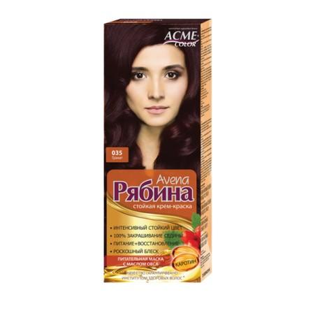 Dažomasis plaukų kremas Acme Color Rebina, 035 Granatmedis