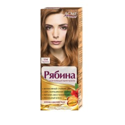 Dažomasis plaukų kremas Acme Color Rebina 114, Karamelinė