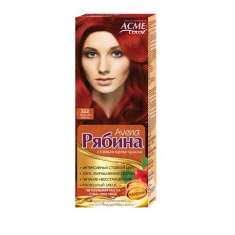 Dažomasis plaukų kremas Acme Color Rebina, 322 Raudona šermukšnių